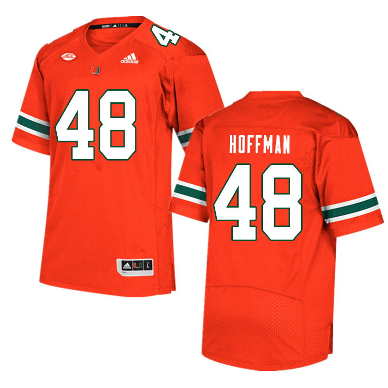 Men #48 Jake Hoffman Miami Hurricanes College Football Jerseys Sale-Orange