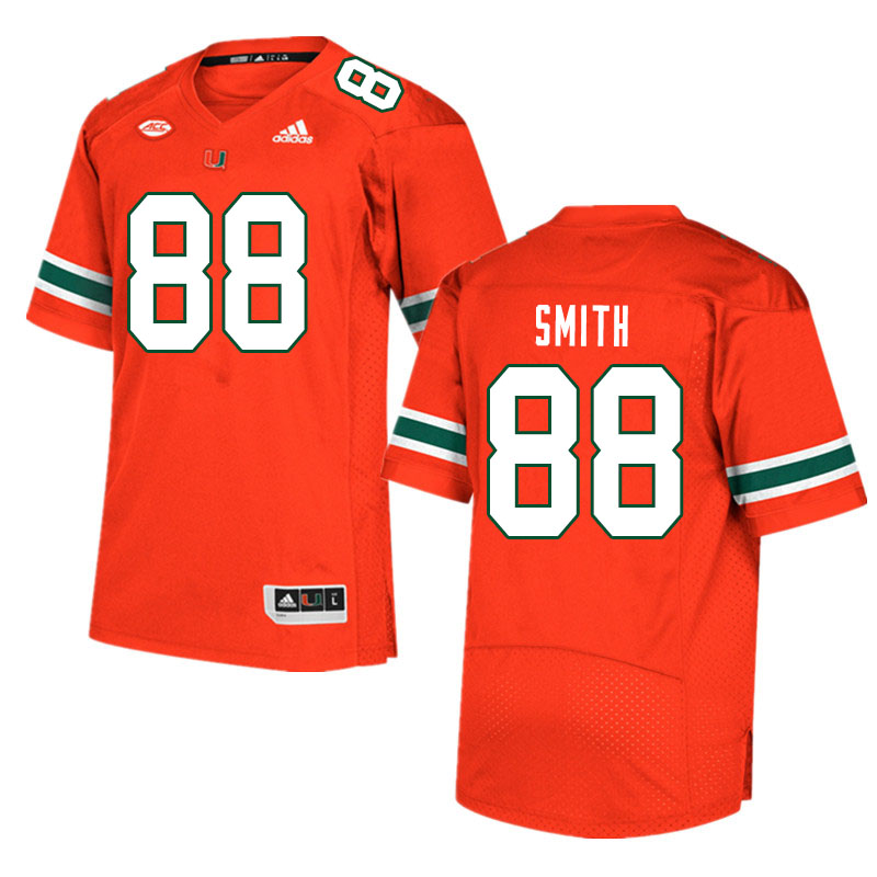 Men #88 Keyshawn Smith Miami Hurricanes College Football Jerseys Sale-Orange