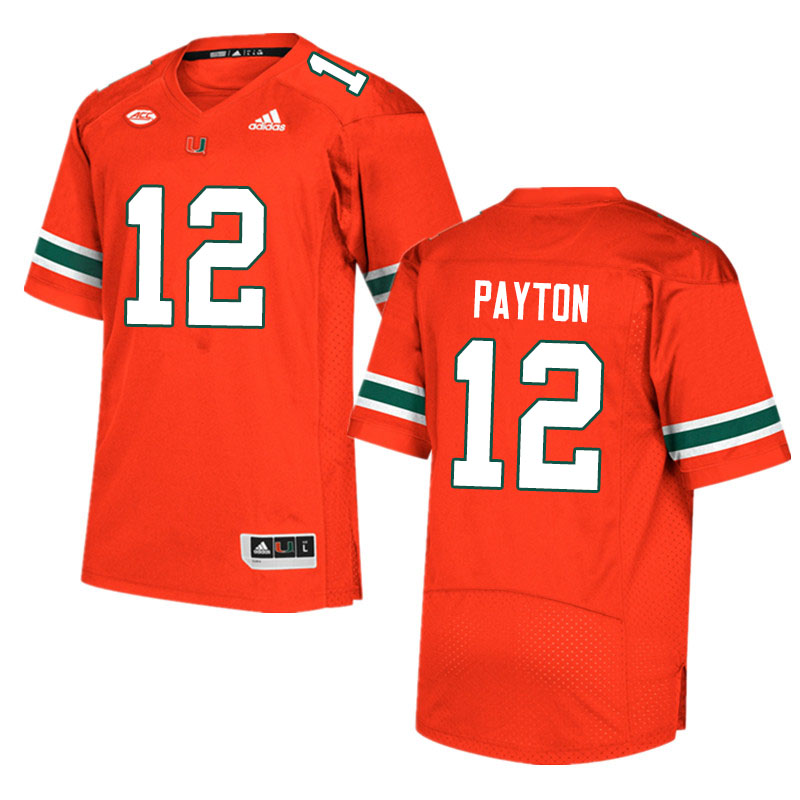 Adidas Miami Hurricanes #12 Jeremiah Payton College Football Jerseys Sale-Orange