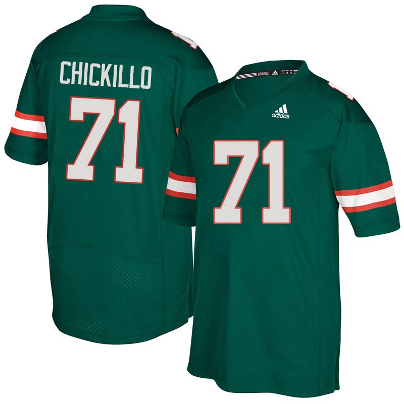 Adidas Miami Hurricanes #71 Anthony Chickillo College Football Jerseys Sale-Green