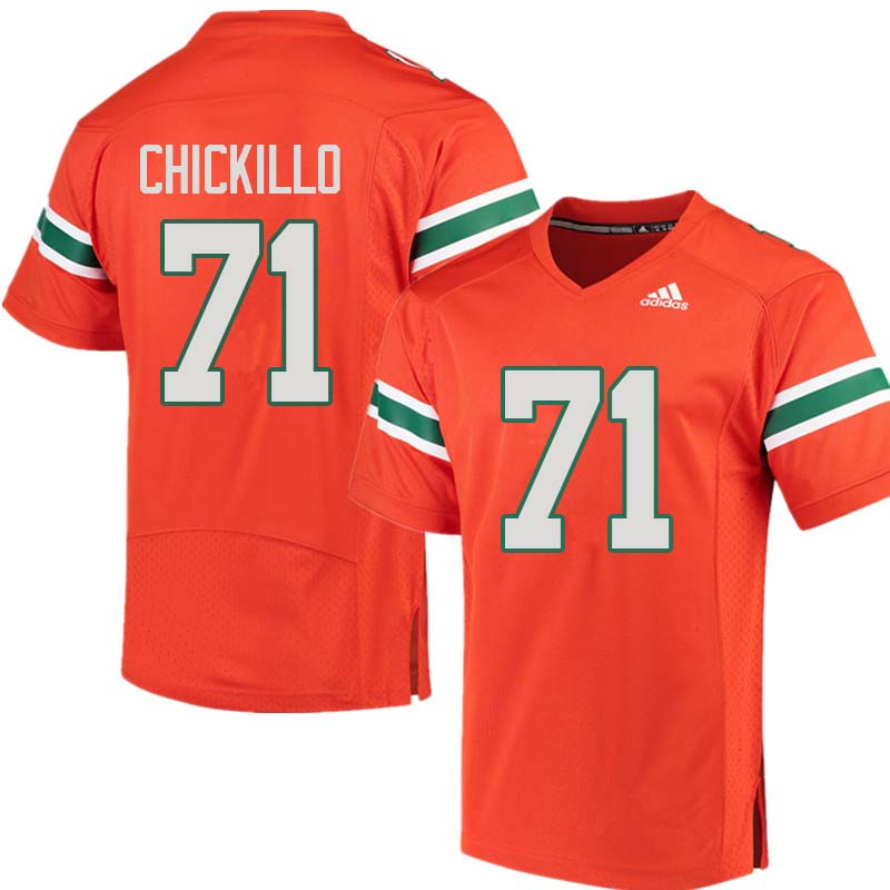 Adidas Miami Hurricanes #71 Anthony Chickillo College Football Jerseys Sale-Orange