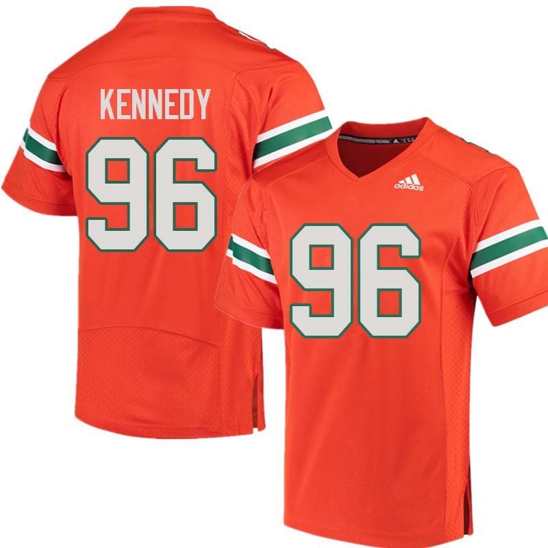 Adidas Miami Hurricanes #96 Cortez Kennedy College Football Jerseys Sale-Orange