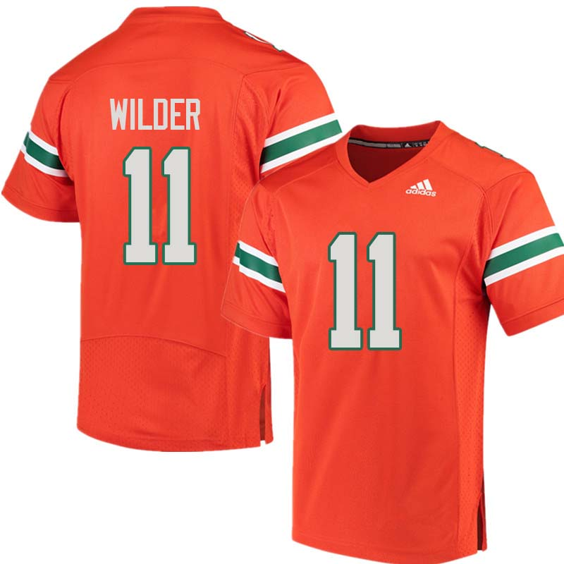 Adidas Miami Hurricanes #11 DeAndre Wilder College Football Jerseys Sale-Orange