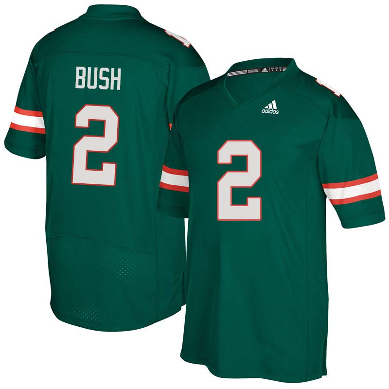 Adidas Miami Hurricanes #2 Deon Bush College Football Jerseys Sale-Green