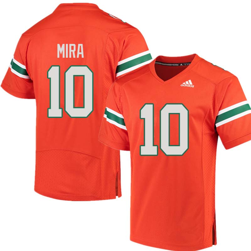 Adidas Miami Hurricanes #10 George Mira College Football Jerseys Sale-Orange