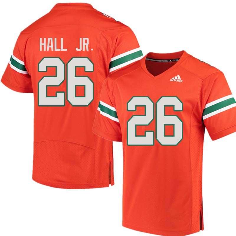 Adidas Miami Hurricanes #26 Gurvan Hall Jr. College Football Jerseys Sale-Orange