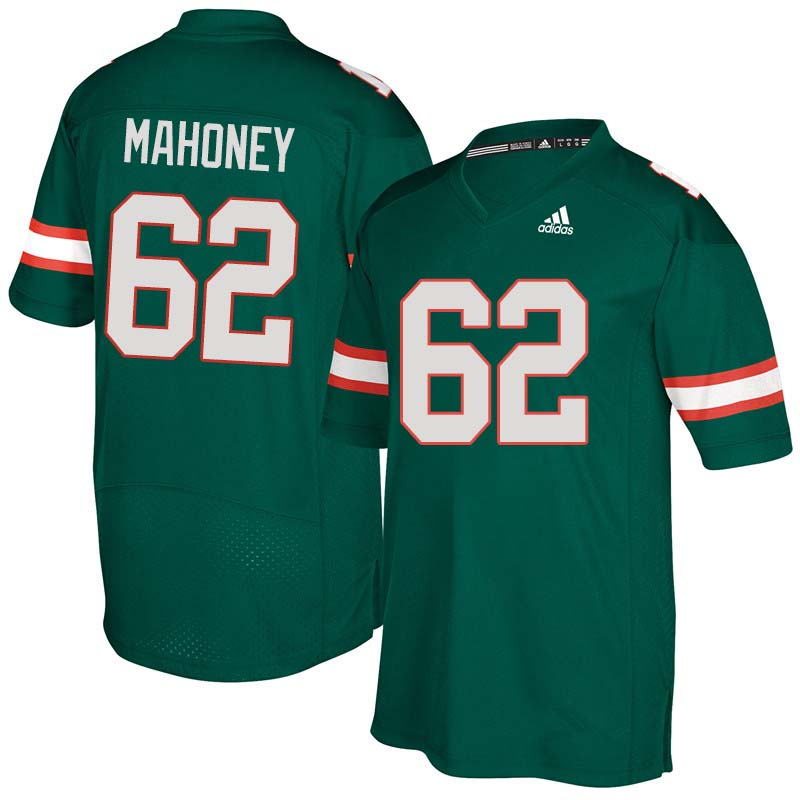 Adidas Miami Hurricanes #62 Hayden Mahoney College Football Jerseys Sale-Green