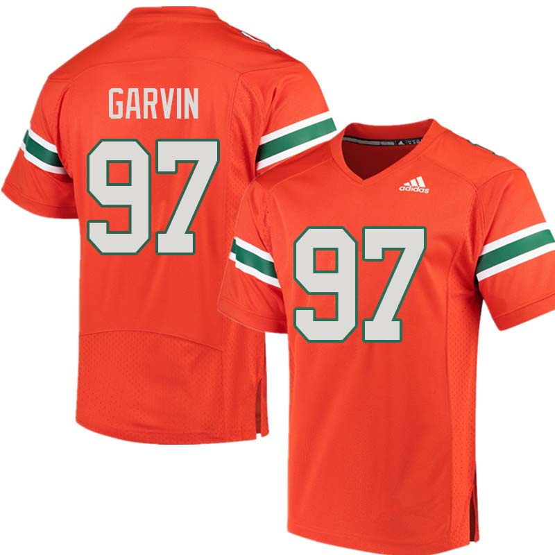 Adidas Miami Hurricanes #97 Jonathan Garvin College Football Jerseys Sale-Orange