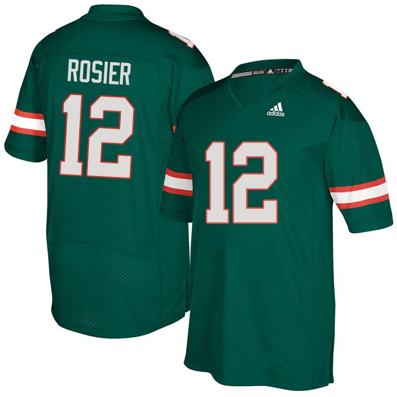 Adidas Miami Hurricanes #12 Malik Rosier College Football Jerseys Sale-Green
