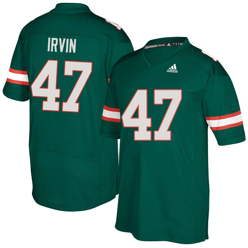 Adidas Miami Hurricanes #47 Michael Irvin College Football Jerseys Sale-Green