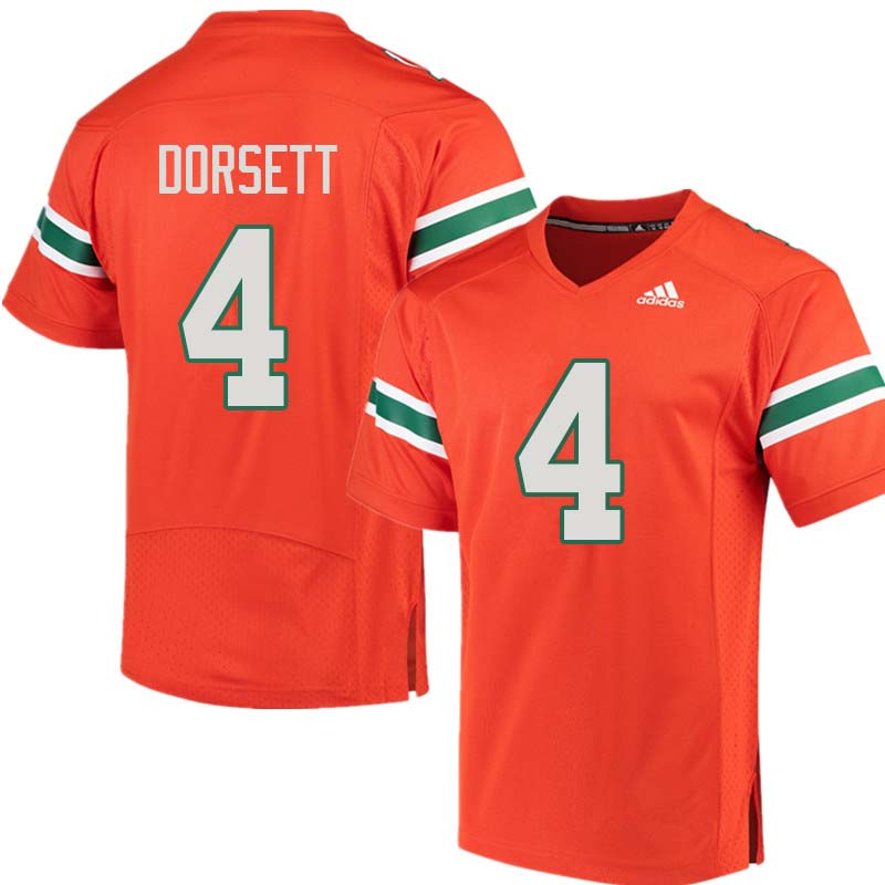 Adidas Miami Hurricanes #4 Phillip Dorsett College Football Jerseys Sale-Orange