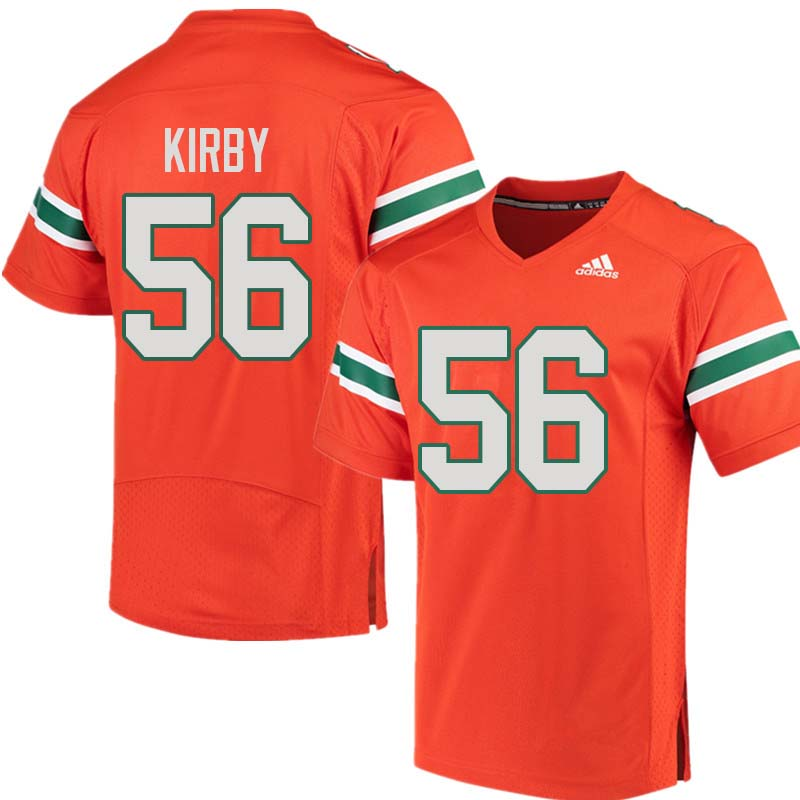 Adidas Miami Hurricanes #56 Raphael Kirby College Football Jerseys Sale-Orange
