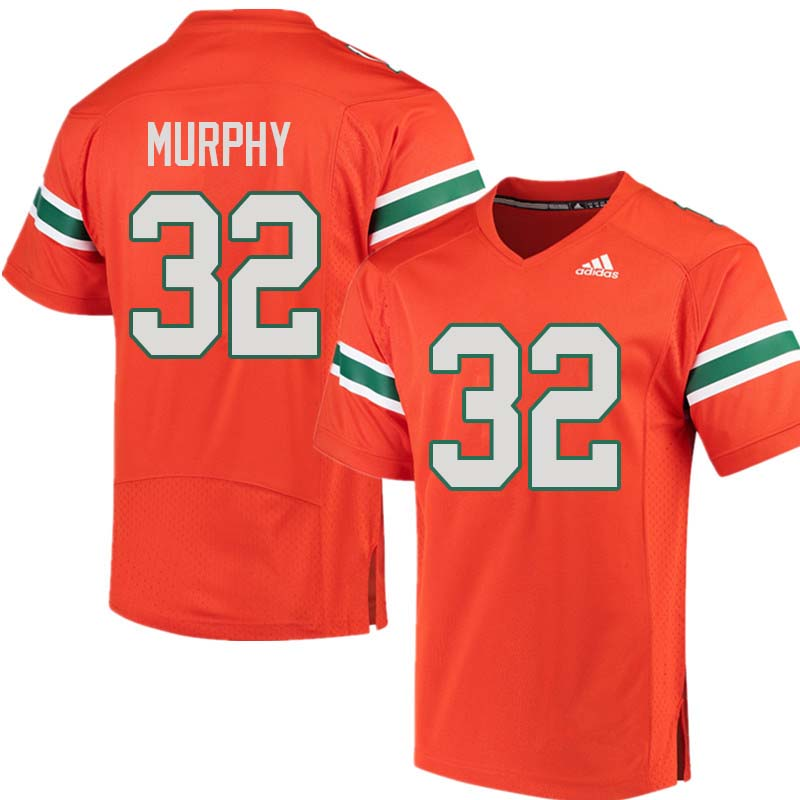 Adidas Miami Hurricanes #32 Tyler Murphy College Football Jerseys Sale-Orange