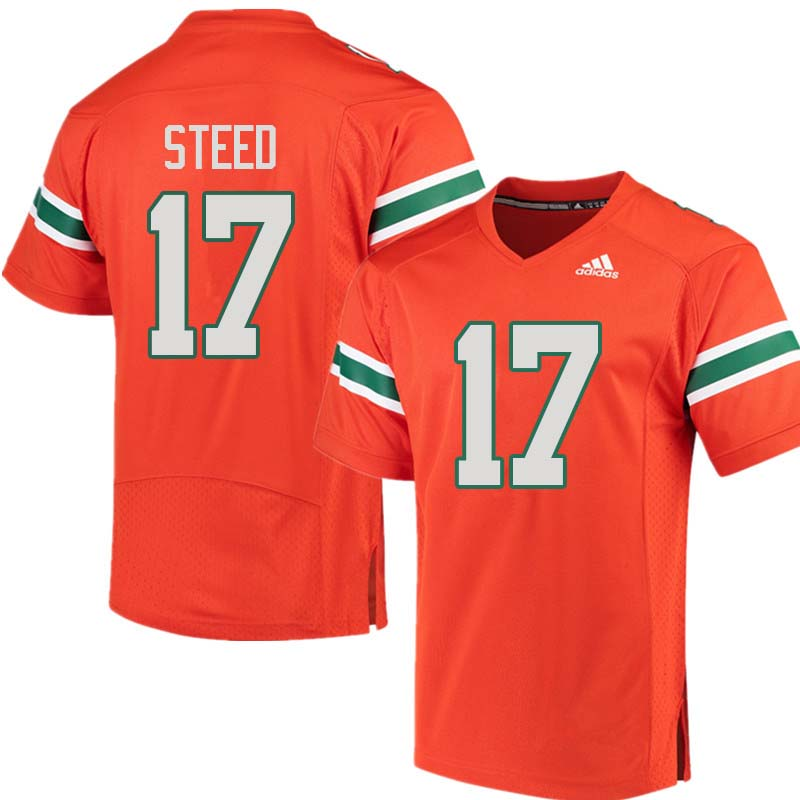 Adidas Miami Hurricanes #17 Waynmon Steed College Football Jerseys Sale-Orange