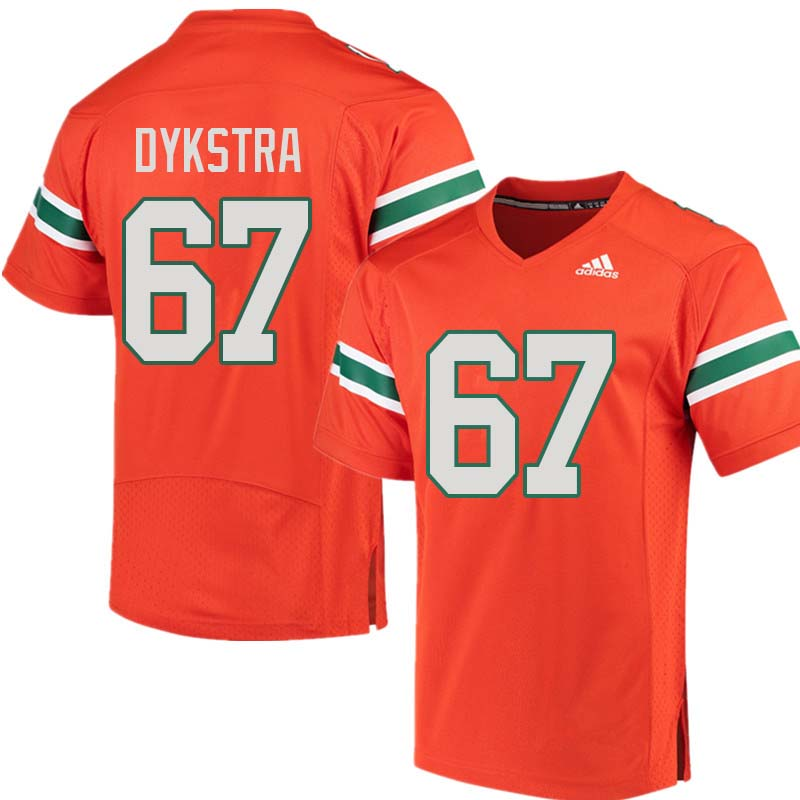 Adidas Miami Hurricanes #67 Zach Dykstra College Football Jerseys Sale-Orange