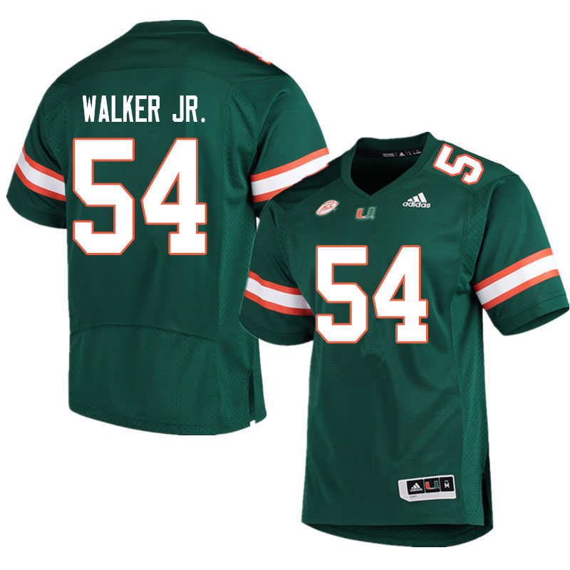 Men #54 Issiah Walker Jr. Miami Hurricanes College Football Jerseys Sale-Green