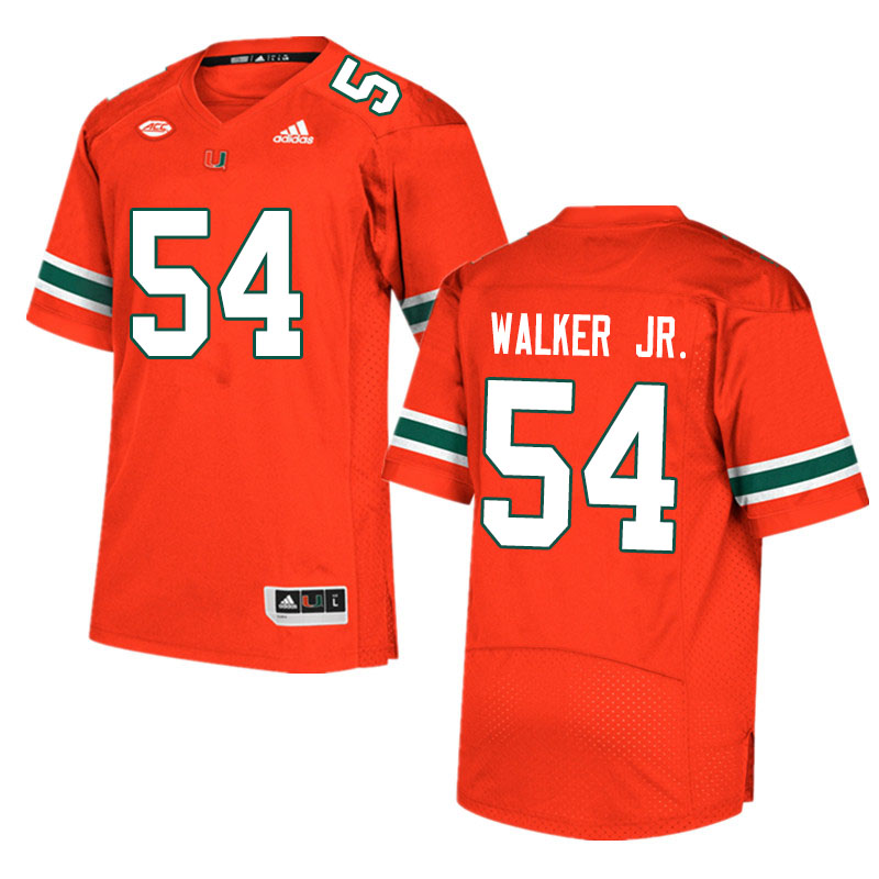 Men #54 Issiah Walker Jr. Miami Hurricanes College Football Jerseys Sale-Orange
