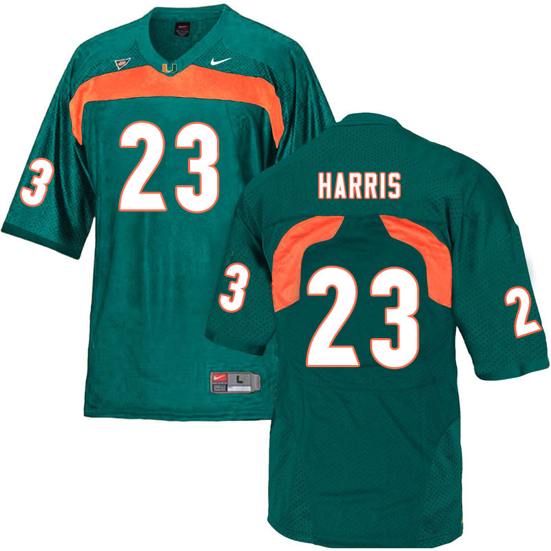 Nike Miami Hurricanes #23 Cam'Ron Harris College Football Jerseys Sale-Green