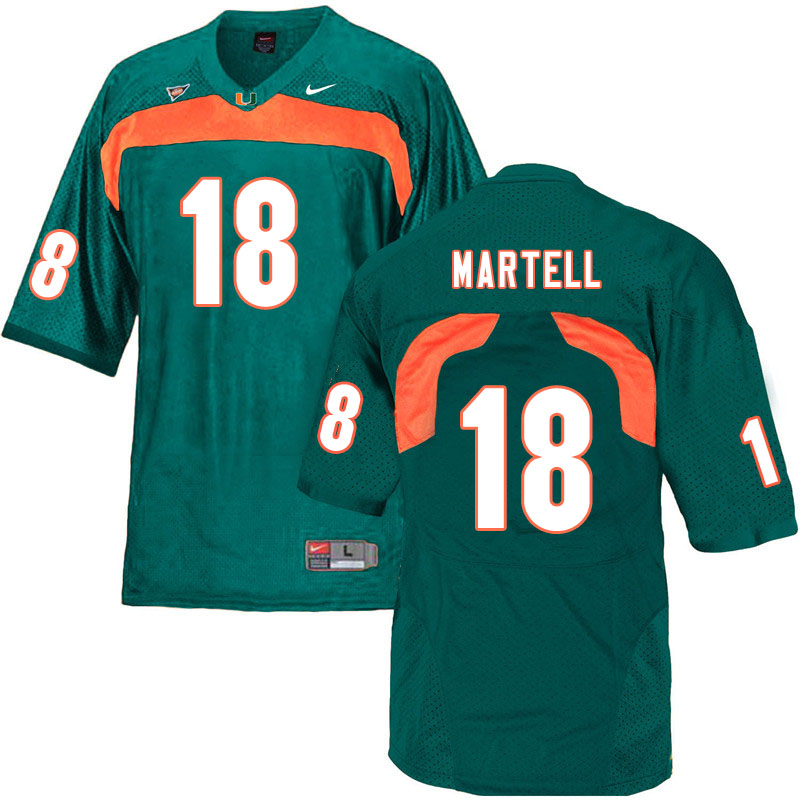Nike Miami Hurricanes #18 Tate Martell College Football Jerseys Sale-Green