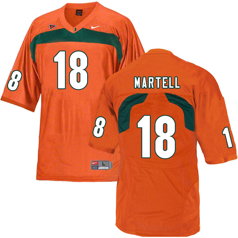 Nike Miami Hurricanes #18 Tate Martell College Football Jerseys Sale-Orange