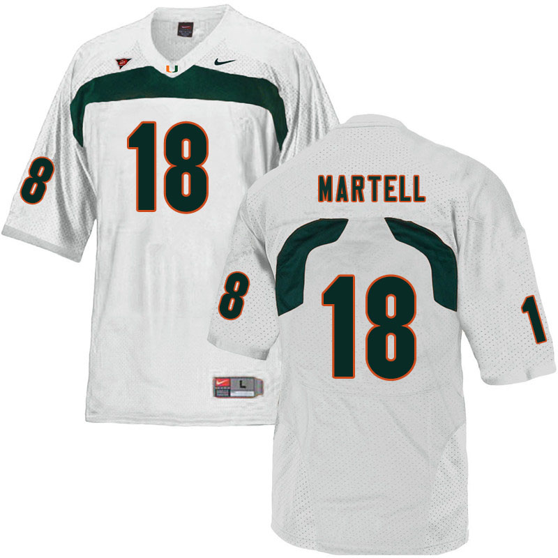 Nike Miami Hurricanes #18 Tate Martell College Football Jerseys Sale-White