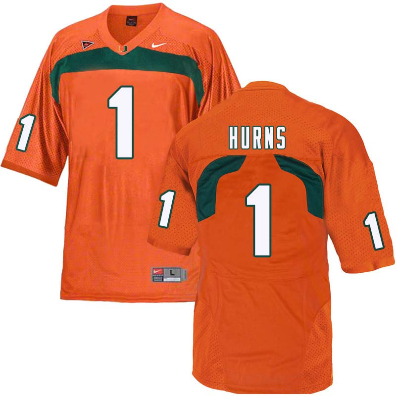 Nike Miami Hurricanes #1 Allen Hurns College Football Jerseys Sale-Orange