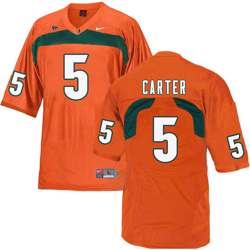 Nike Miami Hurricanes #5 Amari Carter College Football Jerseys Sale-Orange
