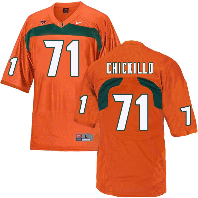 Nike Miami Hurricanes #71 Anthony Chickillo College Football Jerseys Sale-Orange