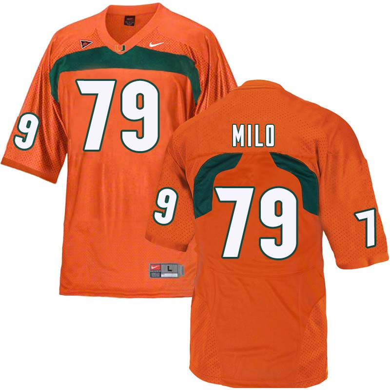 Nike Miami Hurricanes #79 Bar Milo College Football Jerseys Sale-Orange