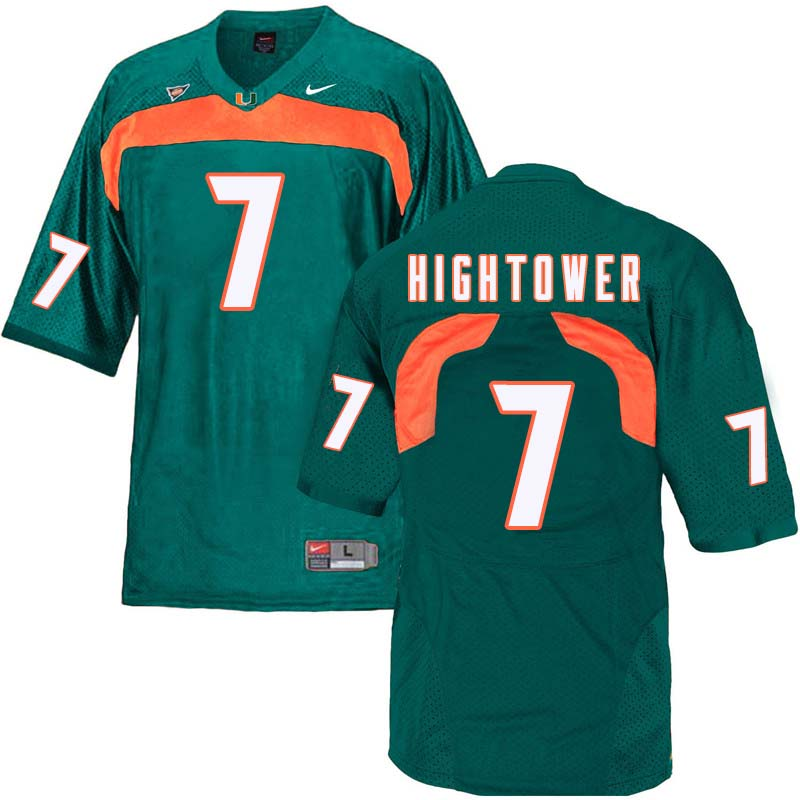 Nike Miami Hurricanes #7 Brian Hightower College Football Jerseys Sale-Green