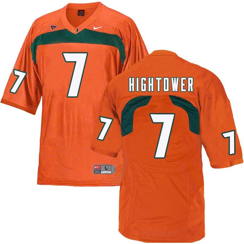 Nike Miami Hurricanes #7 Brian Hightower College Football Jerseys Sale-Orange