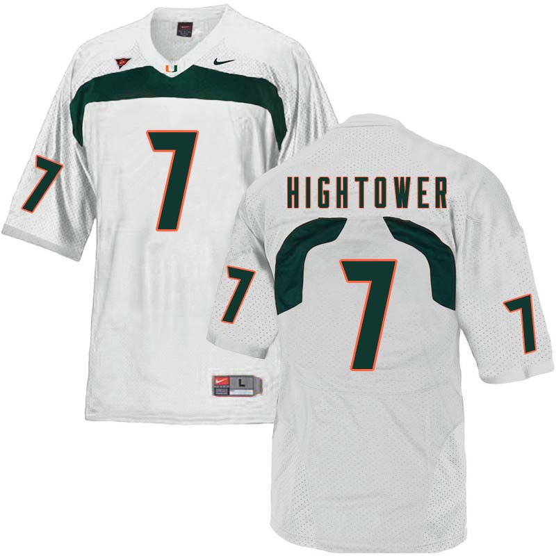 Nike Miami Hurricanes #7 Brian Hightower College Football Jerseys Sale-White