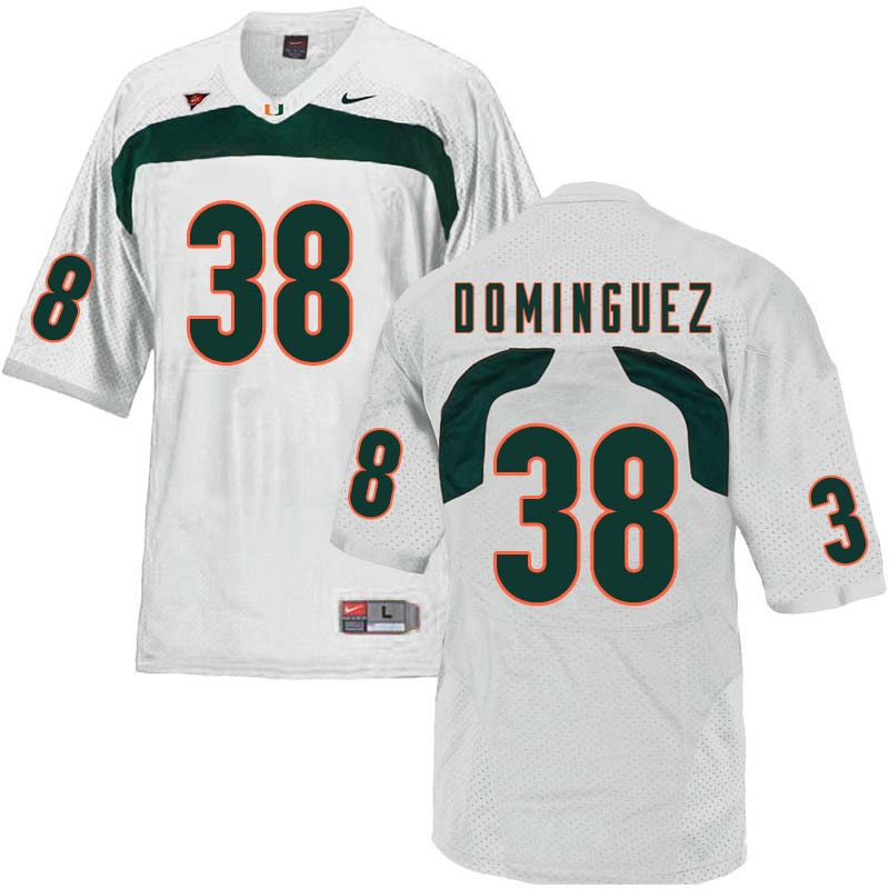 Nike Miami Hurricanes #38 Danny Dominguez College Football Jerseys Sale-White