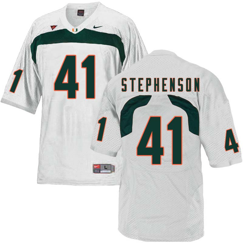 Nike Miami Hurricanes #41 Darian Stephenson College Football Jerseys Sale-White
