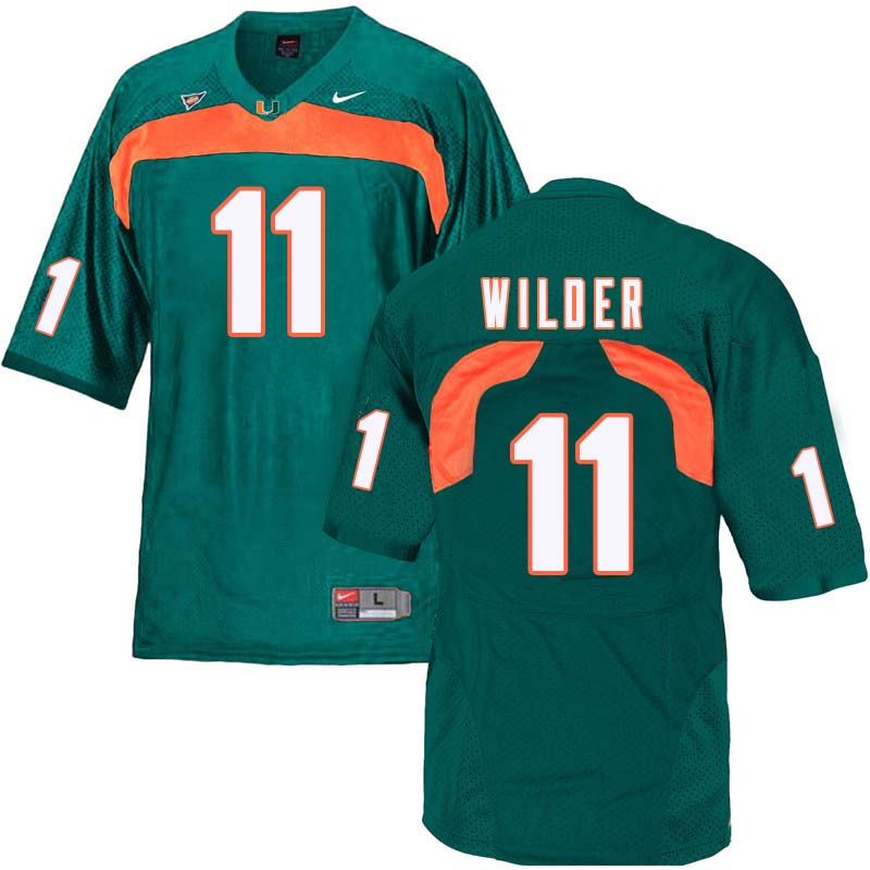 Nike Miami Hurricanes #11 DeAndre Wilder College Football Jerseys Sale-Green