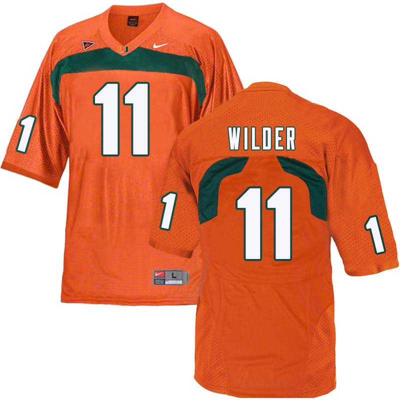 Nike Miami Hurricanes #11 DeAndre Wilder College Football Jerseys Sale-Orange