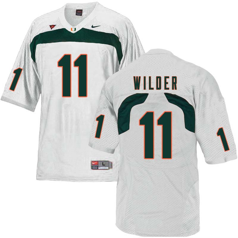 Nike Miami Hurricanes #11 DeAndre Wilder College Football Jerseys Sale-White