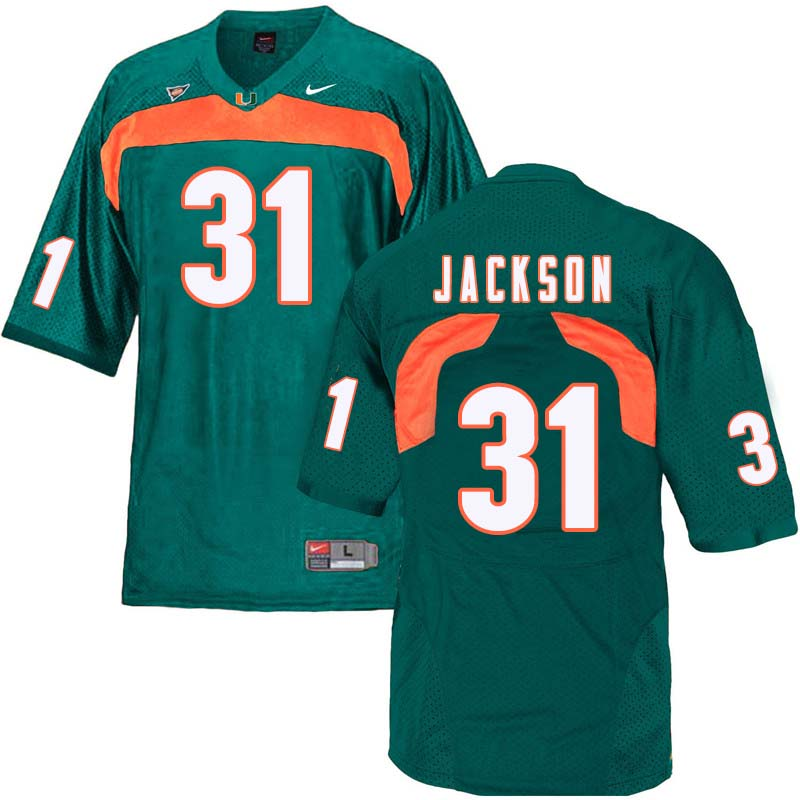 Nike Miami Hurricanes #31 Demetrius Jackson College Football Jerseys Sale-Green