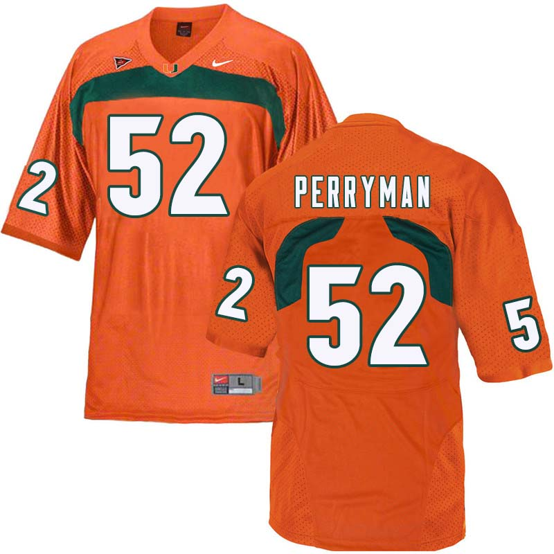 Nike Miami Hurricanes #52 Denzel Perryman College Football Jerseys Sale-Orange
