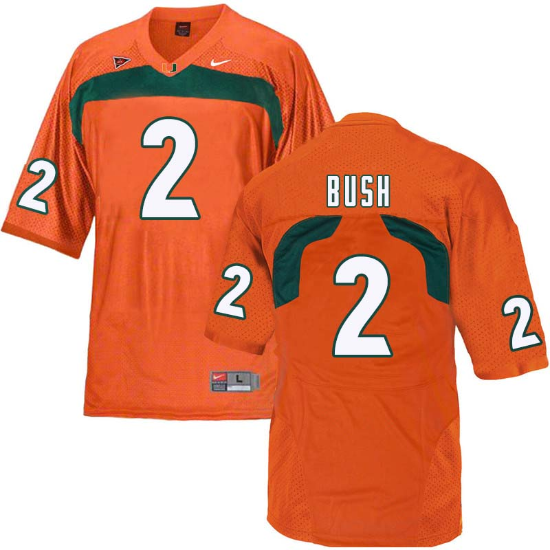 Nike Miami Hurricanes #2 Deon Bush College Football Jerseys Sale-Orange