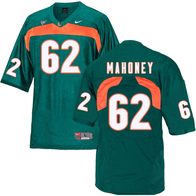 Nike Miami Hurricanes #62 Hayden Mahoney College Football Jerseys Sale-Green