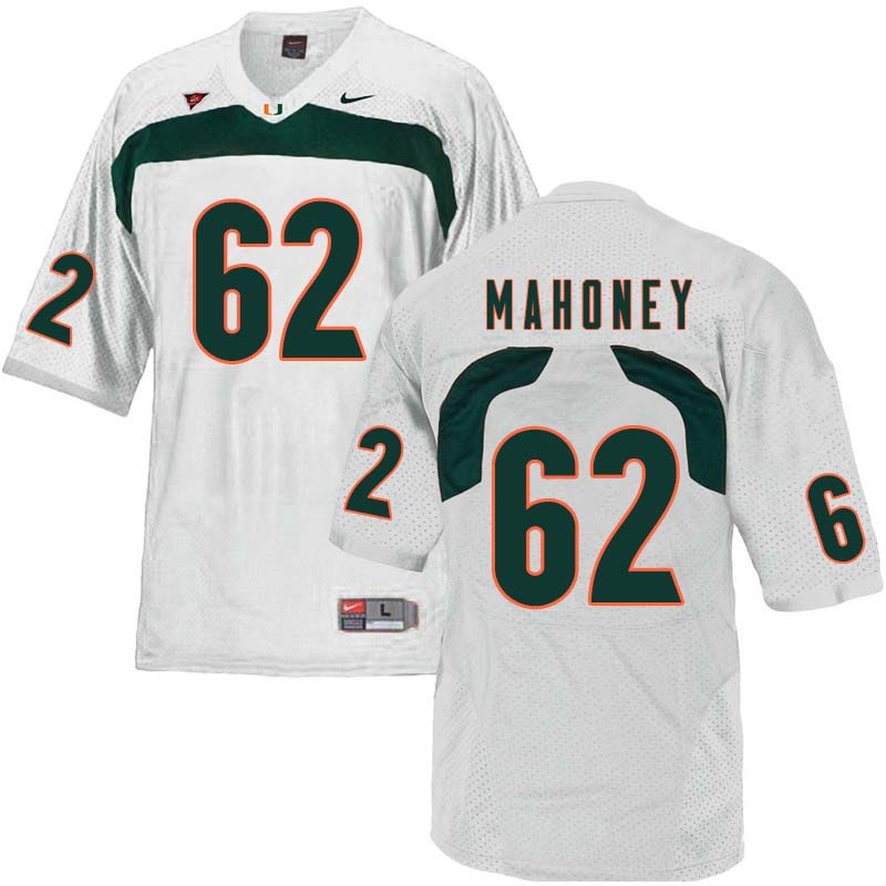 Nike Miami Hurricanes #62 Hayden Mahoney College Football Jerseys Sale-White