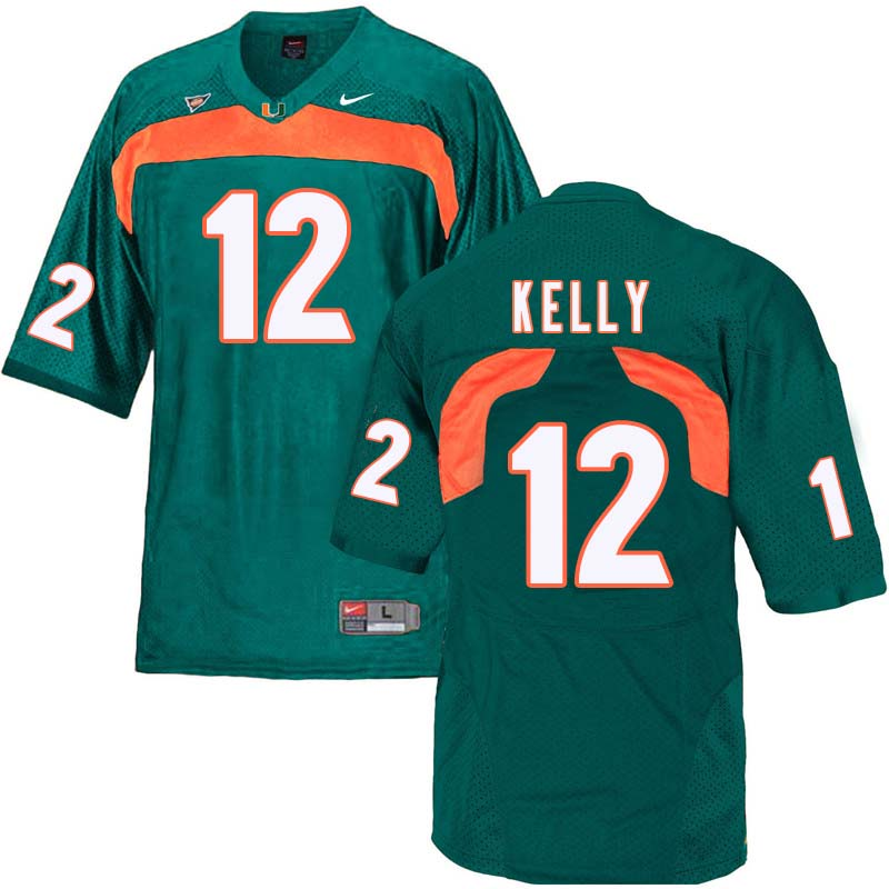 Nike Miami Hurricanes #12 Jim Kelly College Football Jerseys Sale-Green