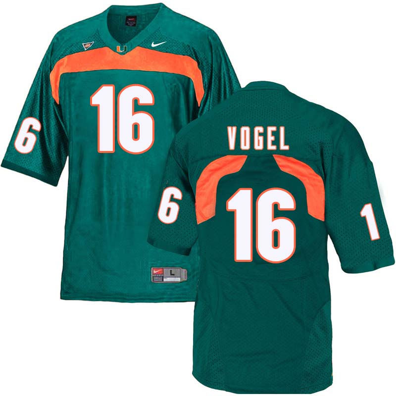 Nike Miami Hurricanes #16 Justin Vogel College Football Jerseys Sale-Green