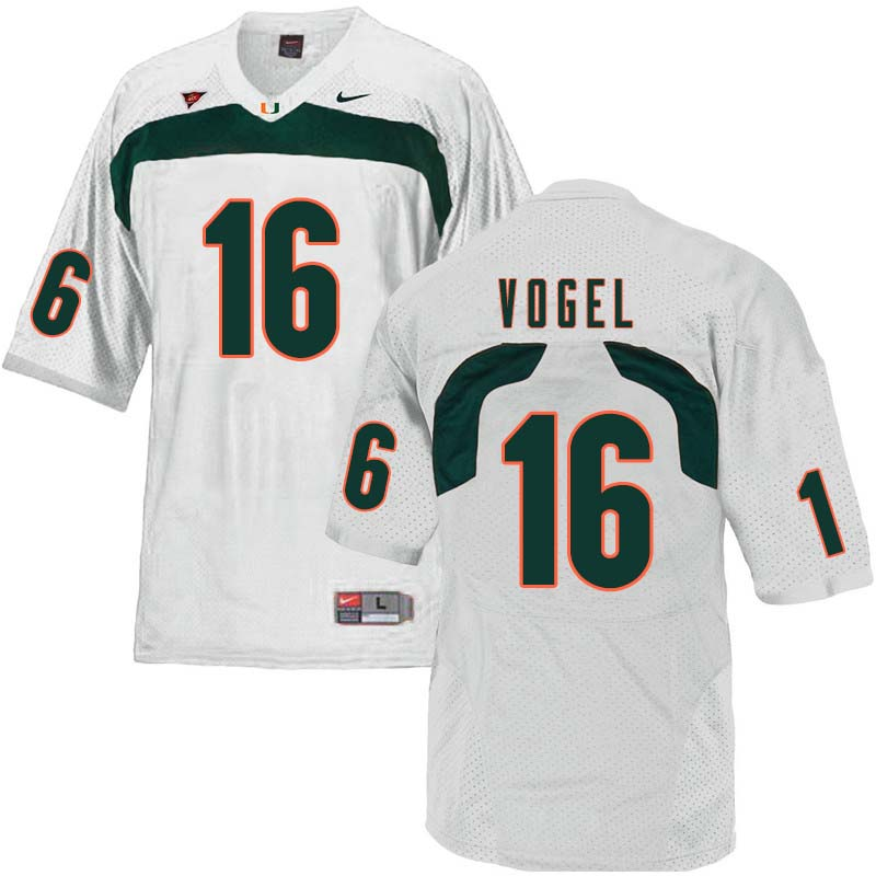 Nike Miami Hurricanes #16 Justin Vogel College Football Jerseys Sale-White