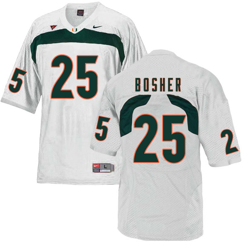 Nike Miami Hurricanes #25 Matt Bosher College Football Jerseys Sale-White