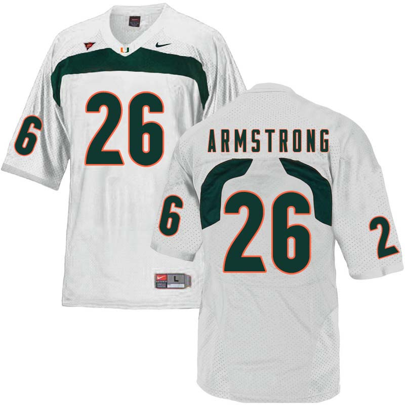 Nike Miami Hurricanes #26 Ray-Ray Armstrong College Football Jerseys Sale-White
