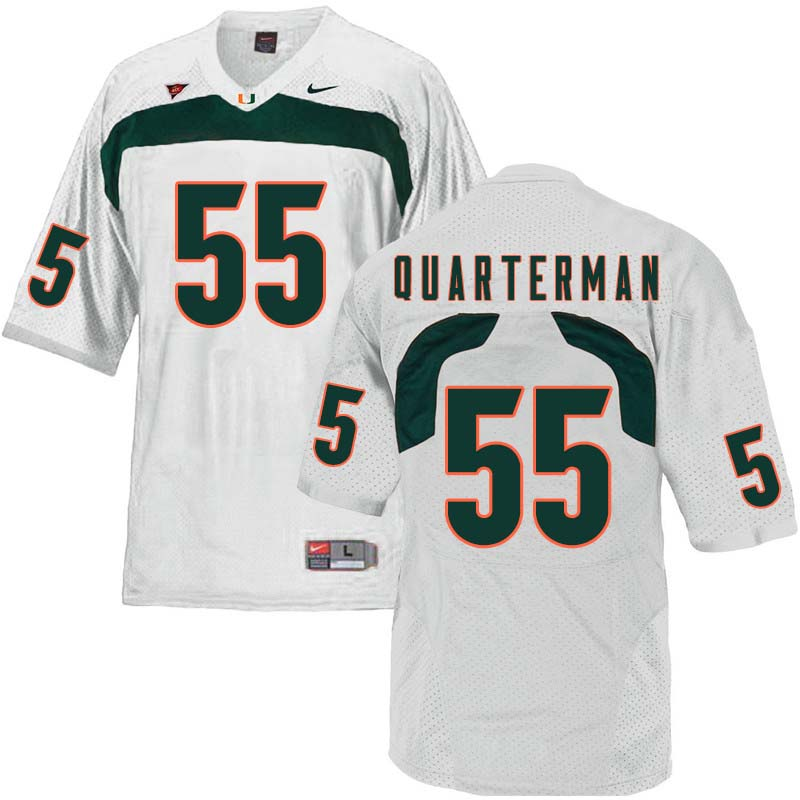 Nike Miami Hurricanes #55 Shaquille Quarterman College Football Jerseys Sale-White