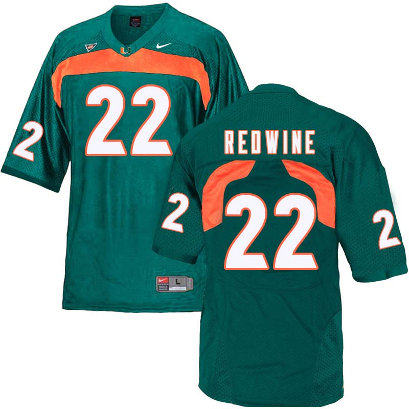 Nike Miami Hurricanes #22 Sheldrick Redwine College Football Jerseys Sale-Green
