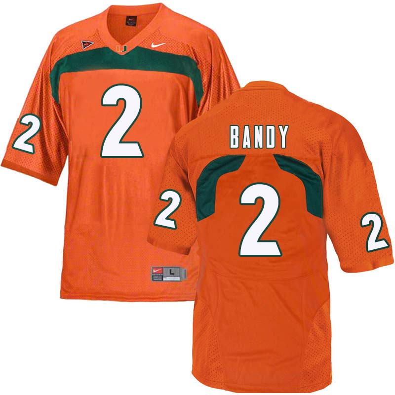 Nike Miami Hurricanes #2 Trajan Bandy College Football Jerseys Sale-Orange